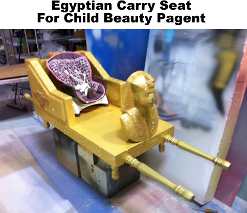 Custom props for Beauty Pagents - egyptian seat