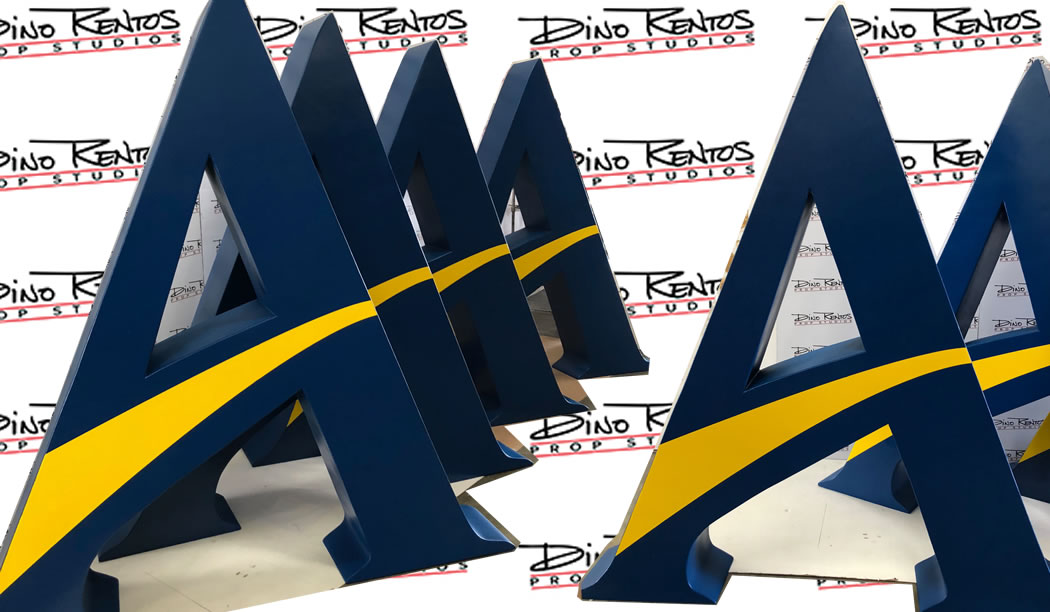 Custom Foam Letters Logo for Alfred Collge Display