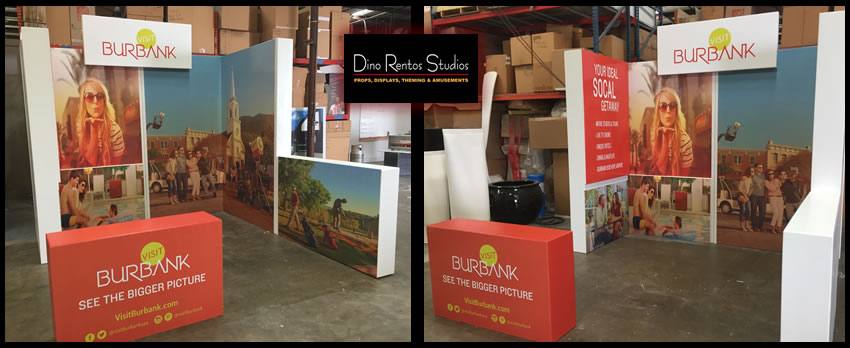 Custom Foam Tradeshow Booth and Display with full color graphics