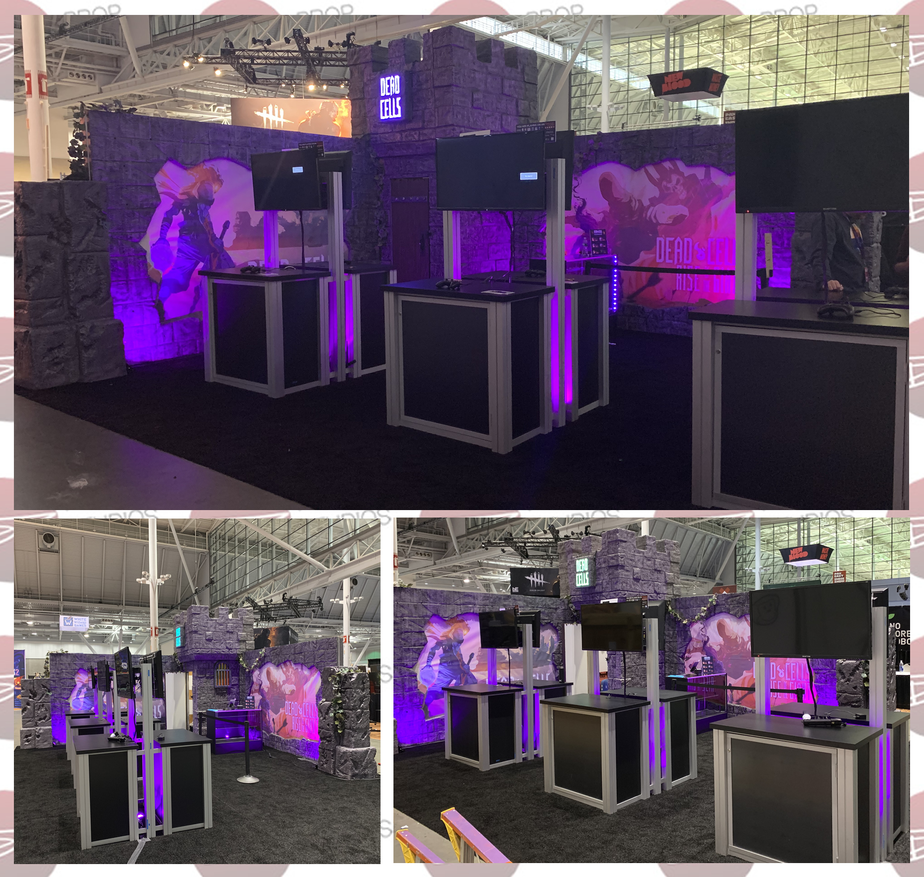 Dead Cells Castle for PAX East 2019 Tradeshow and Exhibit