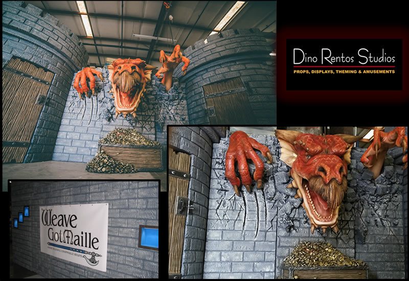 Custom Foam Castle and Dragon Tradeshow Booth and Display