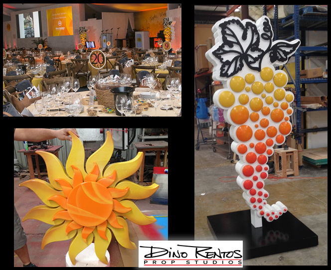 Custom Scenic Foam Grapevine and Foam Sun for Tradeshow Displays