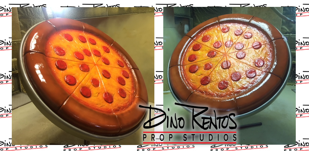 Custom Foam Pizza Prop for exterior signage
