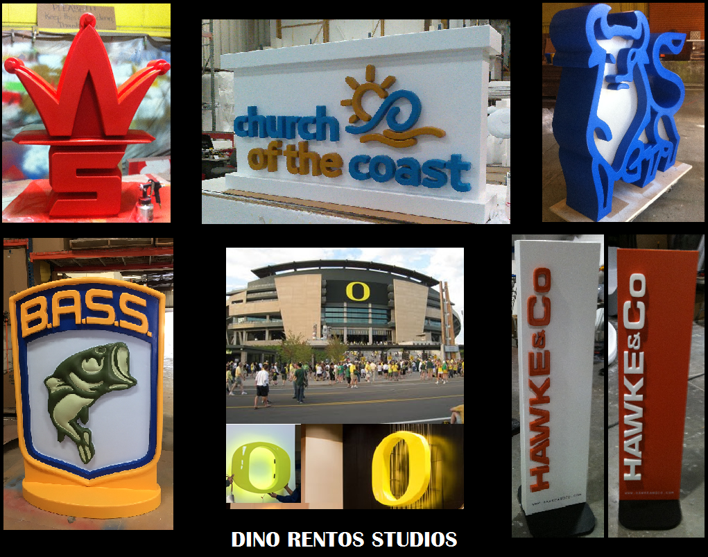 Custom Foam Retail Signs and Banners of Logos and Letters for interior or exterior use