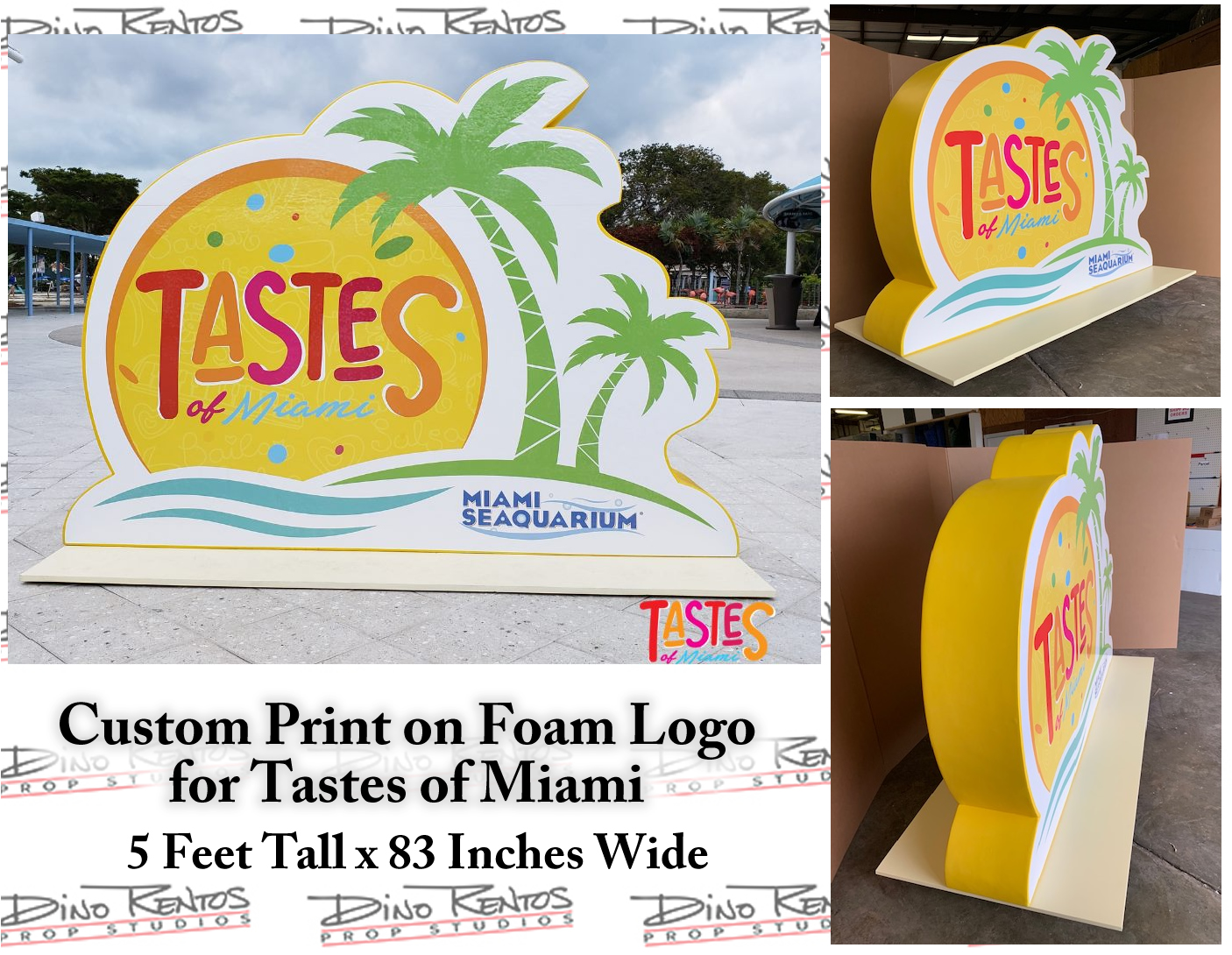 Print on Foam Logo for Tastes of Miami Event