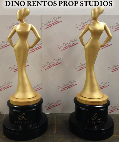 Custom Scenic Foam Award Statues Gold for Tradeshows and Events